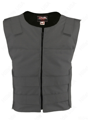Men's Cordura Zippered Tactical Style Vest/Grey