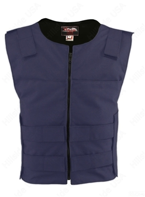 Men's Cordura Zippered Tactical Style Vest/Purple