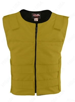 Men's Cordura Zippered Tactical Style Vest/Yellow