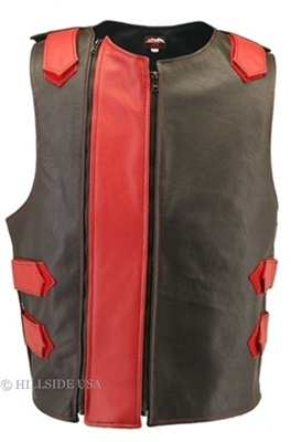 Men's Hillside USA Leather Bulletproof Style Motorcycle Vests