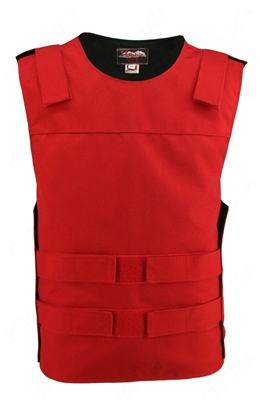 Men's Red Cordura Tactical Style Vest