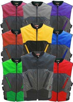 Interceptor Leather and Cordura Combo Vest