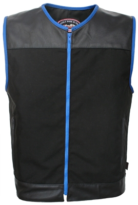 Zipper Racer Vest Blue trim
