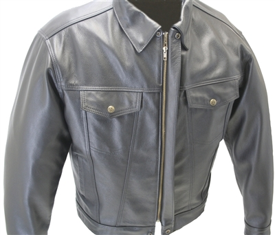 American made Jean Leather Jacket