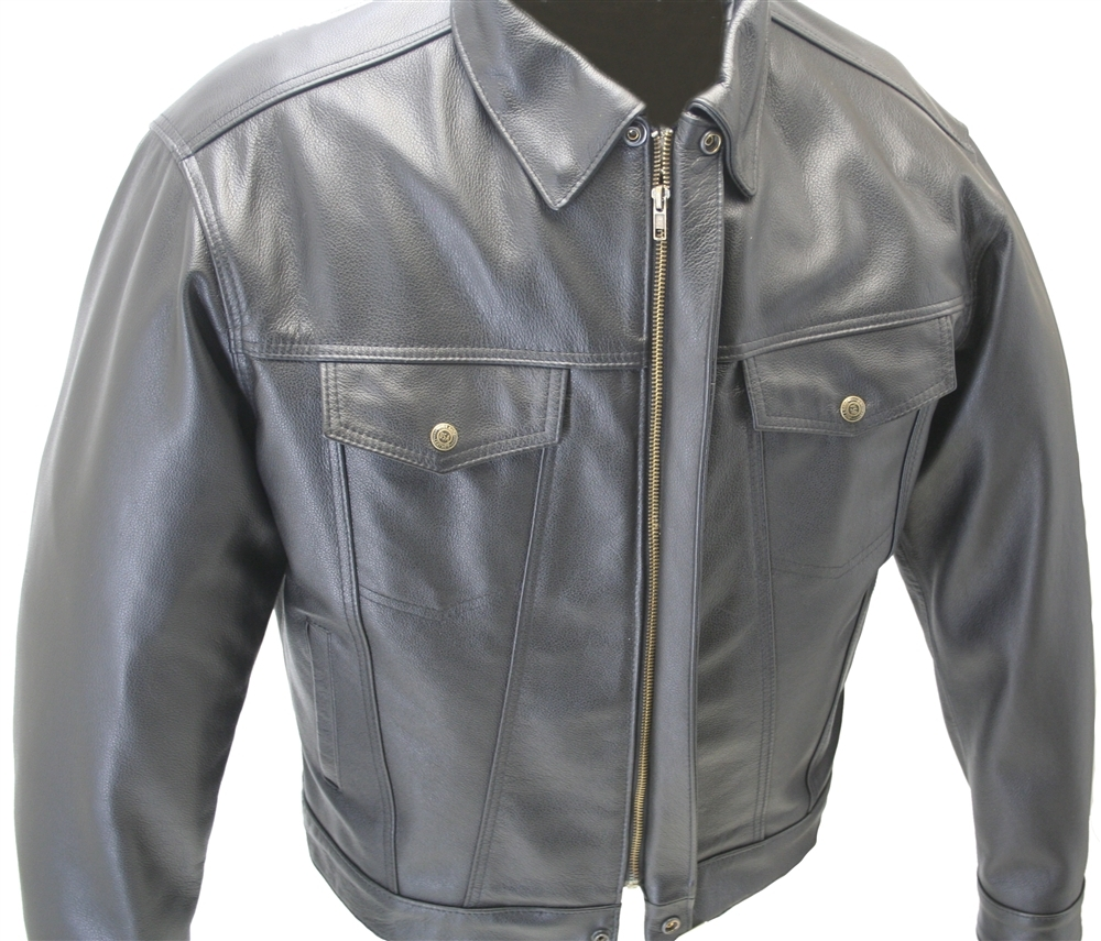 American Made Jean Leather Jacket Crafted From 1 0 1 2 Mm