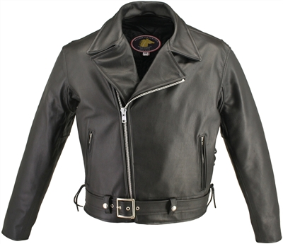 Men's Full Belted Horsehide M/C Jacket