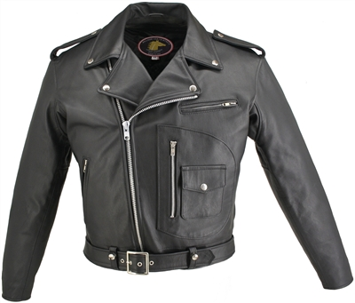 Men's D Pocket Horsehide Motorcycle Jacket