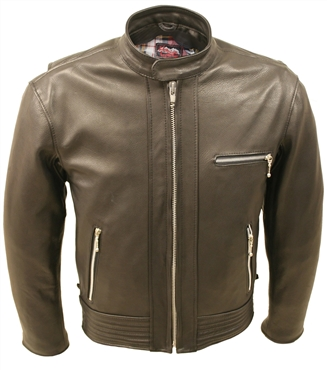 Padded Racer Leather Jacket