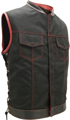 SOA Style Side Lace (Cordura - Military grade fabric) Black/Red