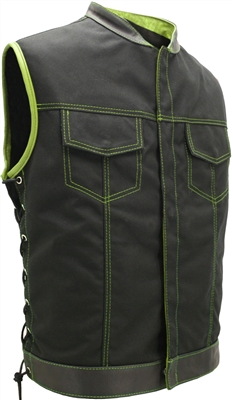 SOA Style Side Lace (Cordura - Military grade fabric) Black/Lime Green