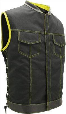 SOA Style Side Lace (Cordura - Military grade fabric) Black/Yellow