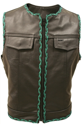 Black and Green Vest