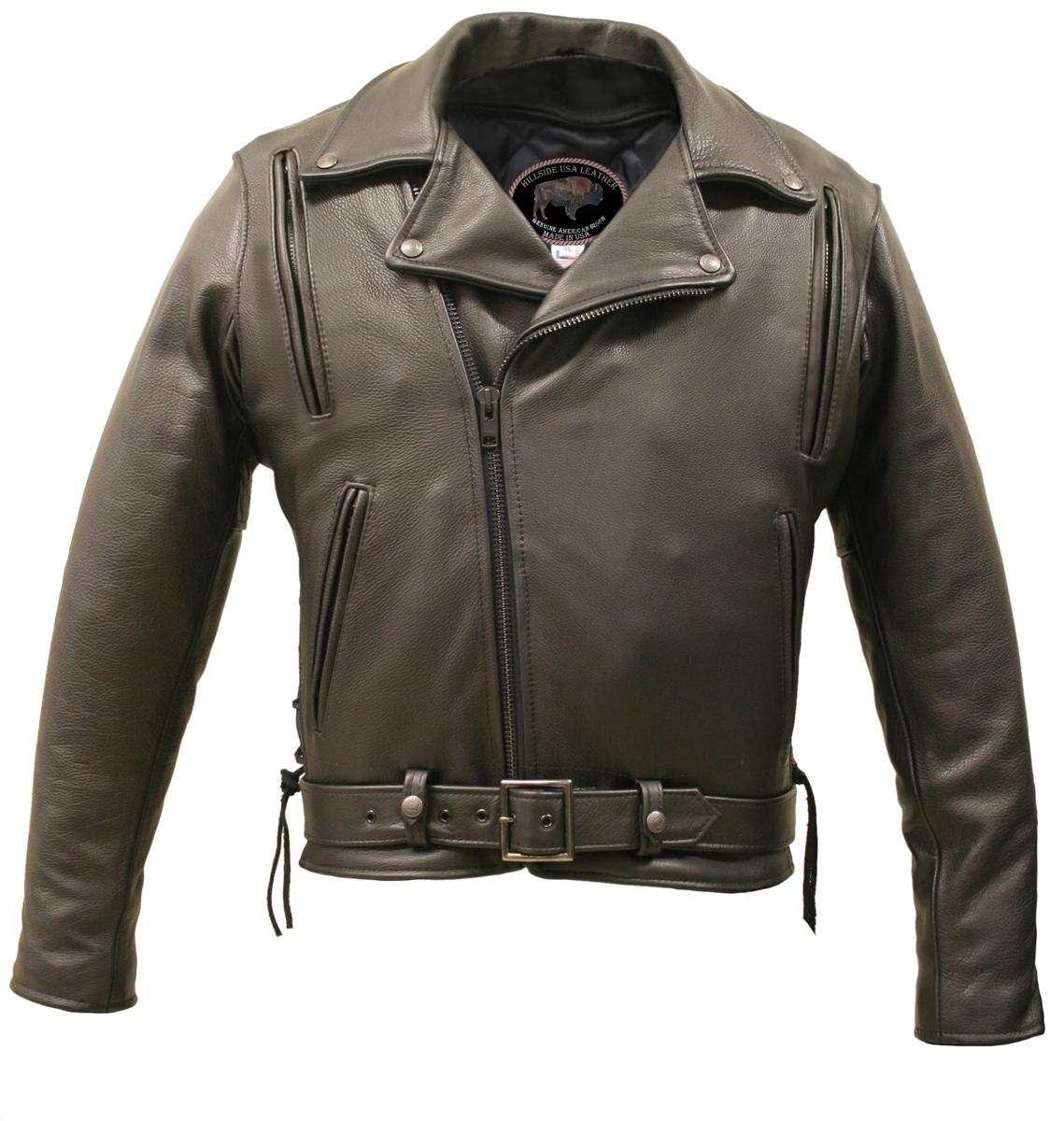 American Bison Vented Biker Jacket Hillside Usa Leather