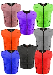Women's Zippered Cordura Bulletproof Style Vest