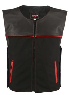 Men's Hillside USA Leather Bulletproof Style Motorcycle Vests