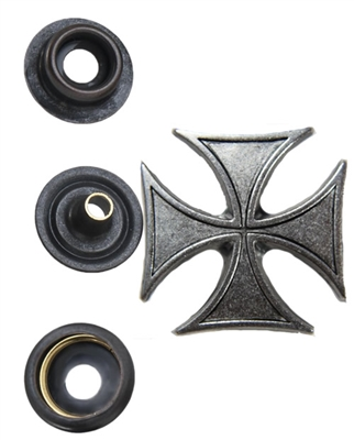 Iron Cross Silver Snap