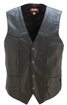 Full Back Classic Motorcycle Vest