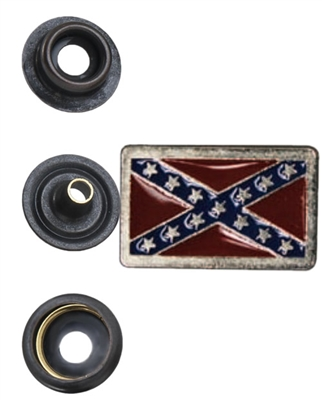 Rebel Flag Banner Snap Head